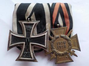 """Ветеранская колодка """"Железный крест II класса образца 1914г. и Креста Гинденбурга с мечами"""".Л"""