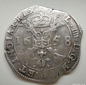 Талер-патагон 1658 года. Испанские Нидерланды