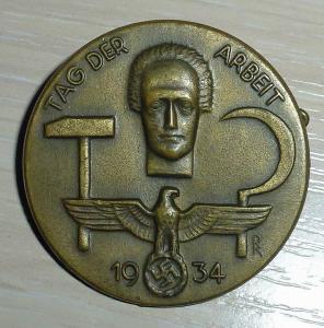 Немецкий значок «день труда» 1934