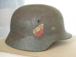 Шлем М-35.вермахт. ЕТ-66,с тактической полосой.