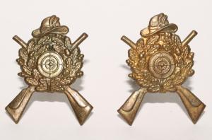 Оригинальные немецкие Стрелковые, Егерьские (охотничьи) знаки - Петлицы. (пара)