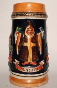 Антикварная немецкая пивная кружка. 1930е годы. Мюнхен. Пивоварня.