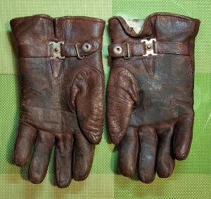 Летные кожанные перчатки на меху. Германия.