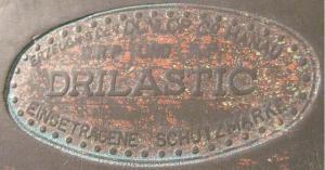 Сидение DRILLASTIC Erzeugnis der Dunlop Co Hanau.