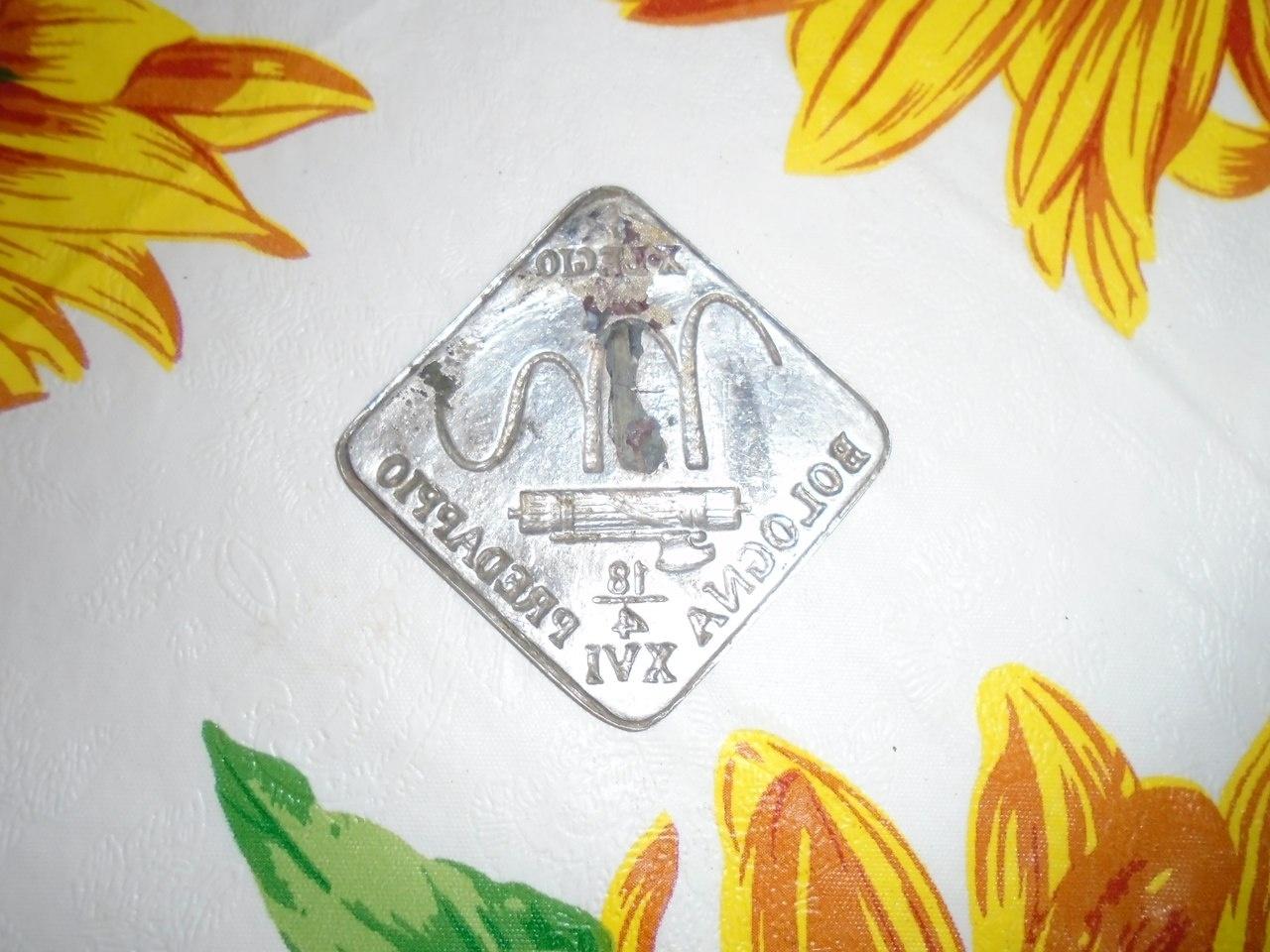 """Значок итальянский. С эмблемой батальона """"M"""""""
