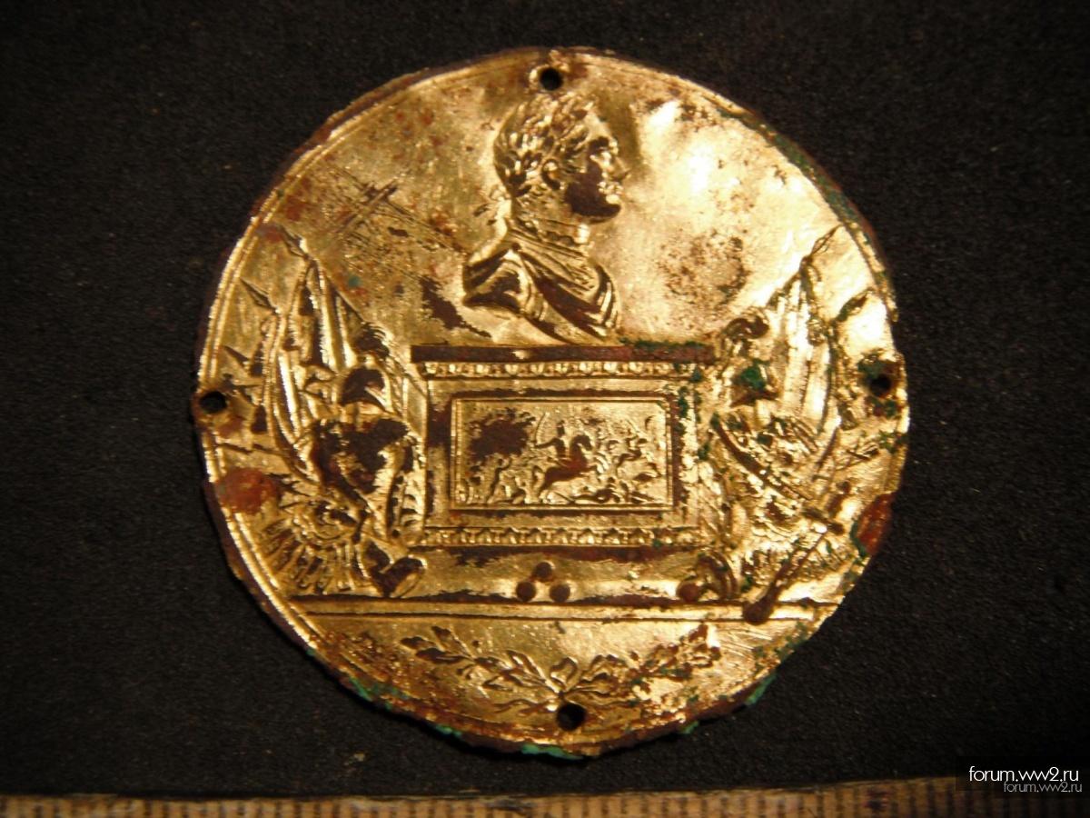 Накладка на табакерку Наполеон I позолота