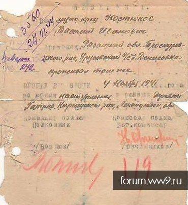 Костюков Василий Иванович, погиб 04.11.1941, Киришский р-н, д. Гатика