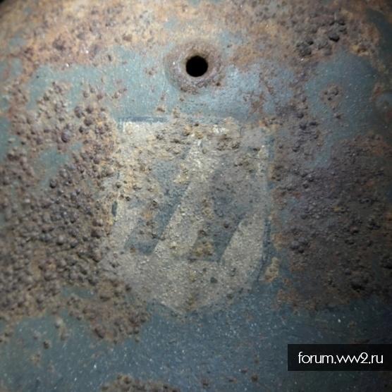 Каска М42 SS однодекалка