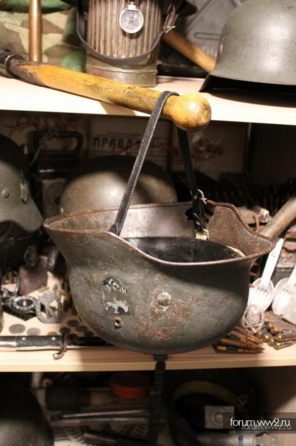 Моя скромная коллекция немецких стальных шлемов!