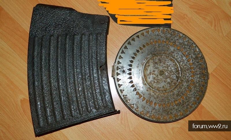 Магазин от Флака диск с пулемета Дегтярева