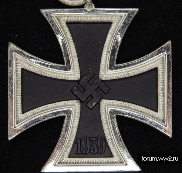 Железный Крест 2 класса на ленте - б\к Rudolf Wachtler & Lange Mittweida
