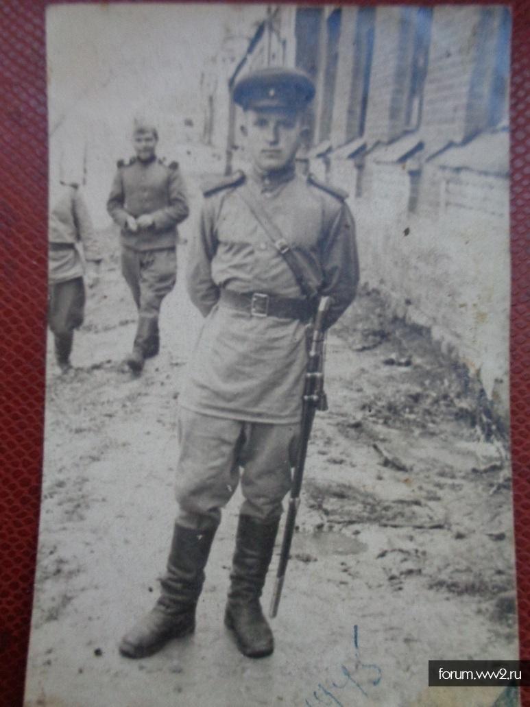 Боец с саблей 1945 год.