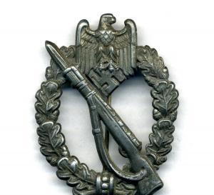 Пехотный знак в серебре
