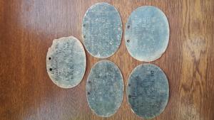 Пять немецких жетонов сапёров WW1