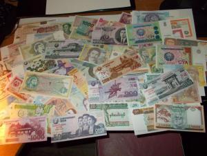 65 штук банкнот Все пресс unc. Без повторов. Одним лотом.