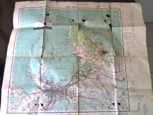 Карта Таллина 1936 года с печатью