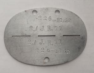 Жетон 2./ J.R. 77 226 - BL.Gr.